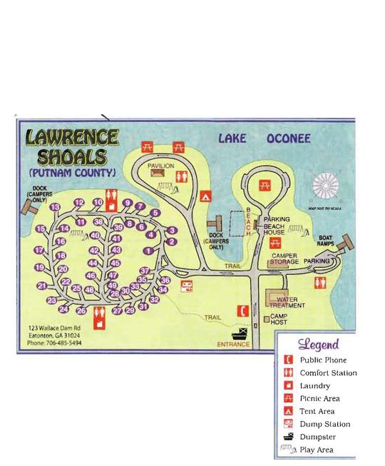 Oconee Campground Lawrence Shoals Rock Hawk