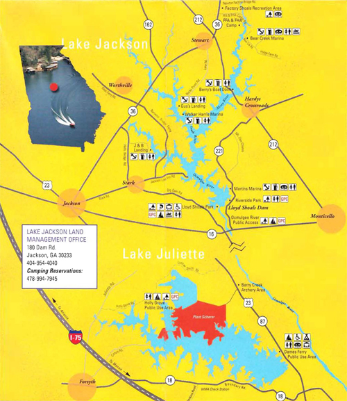 Lake Maps Rock Hawk - Georgia map lakes